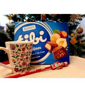 Gift pack 3 set: Mug with chocolate and pencil