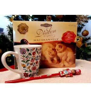 Gift pack 3 set: Mug with diet chocolate and pencil