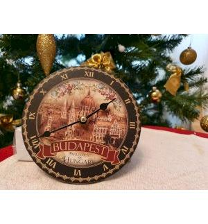 Wall clock with Budapest photo