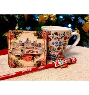 GIFT PACKAGE 3 pieces set. Mug, coasters, pencil