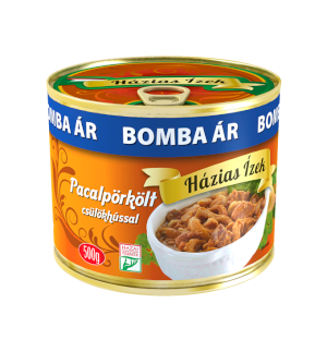 Hungarian tripe stew with pork knuckle meat Házias Ízek canned 500g