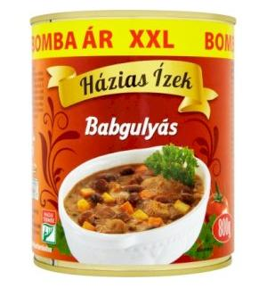 Goulash with beans Házias Ízek Canned 800g XXL
