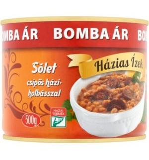 Cholent Sólet with spicy Sausage Homemade flavor Canned 500g