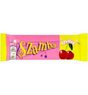 Flavor Samba dark chocolate coated slices with rum flavored cocoa and marzipan cherry filling 25 g