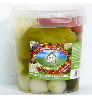 HOT Assorted pickles 500g FAZEKAS Vecsés Pickles