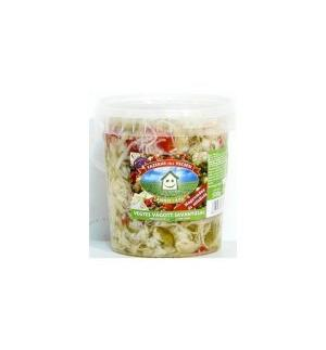 Salad Mixed Cut Pickles Spicy 500g Vecsés Pickles